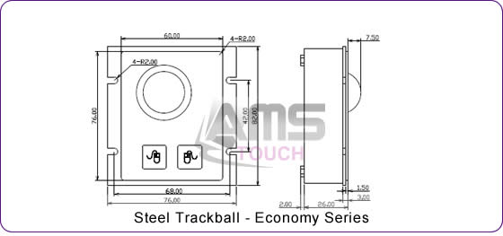 Steel Trackball - Economy Series